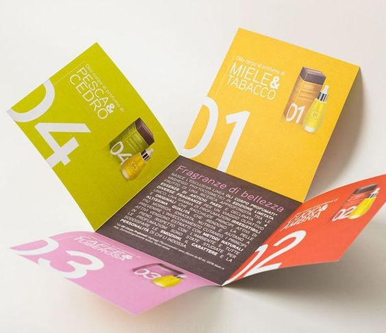 Printed brochures with special folds